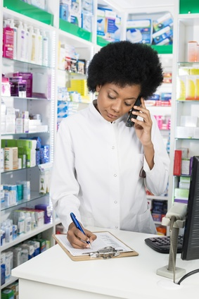 Pharmacist Taking Order